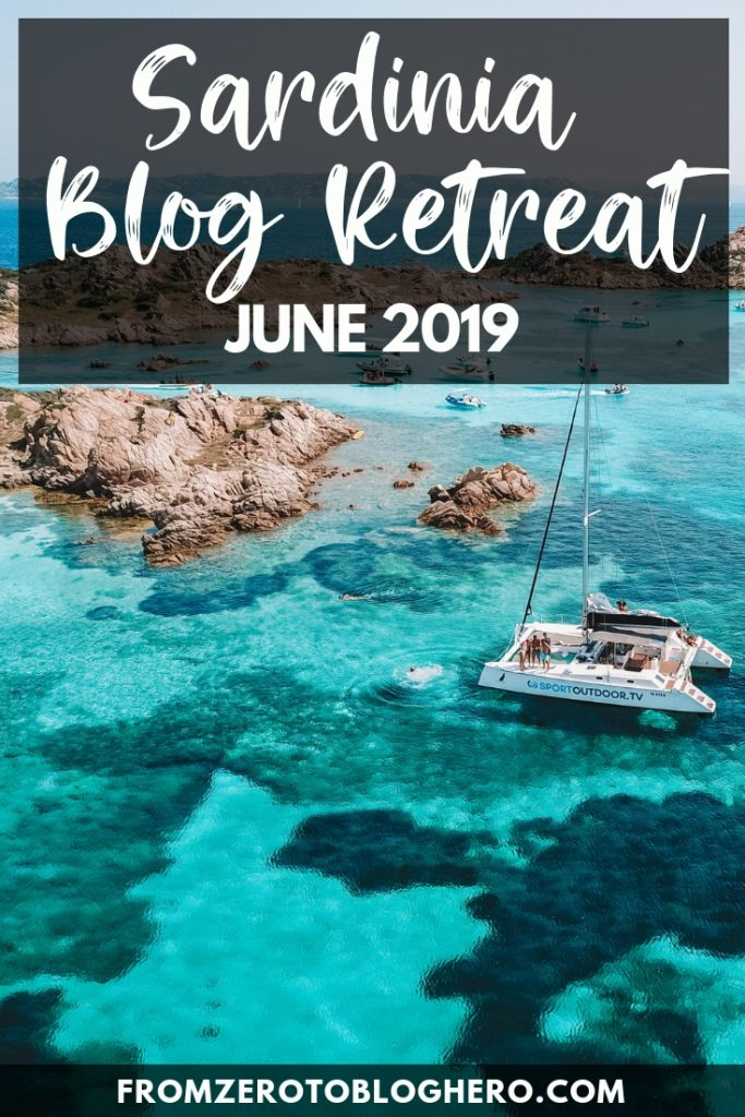 Want to build a profitable blog but don't know how to? Join a blog retreat in Italy this summer! Two professional full-time bloggers will be sharing all their knowledge and secrets in how to turn your blog from a hobby to something that can be a full-time job! All while in the beautiful island of Sardinia, in Italy, where the workshops will be alternated with fun outdoors and water based activities. #blog #blogretreat #retreat #sardinia #italy #bloggerretreat