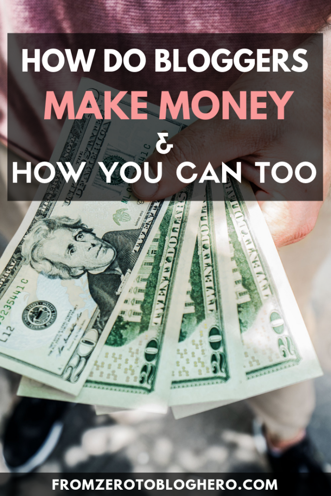 Curious how other bloggers make money online? In this blog post, we share different ways bloggers can make money online. Learn how to start a blog and get paid! #startaprofitableblog #makemoneyblogging