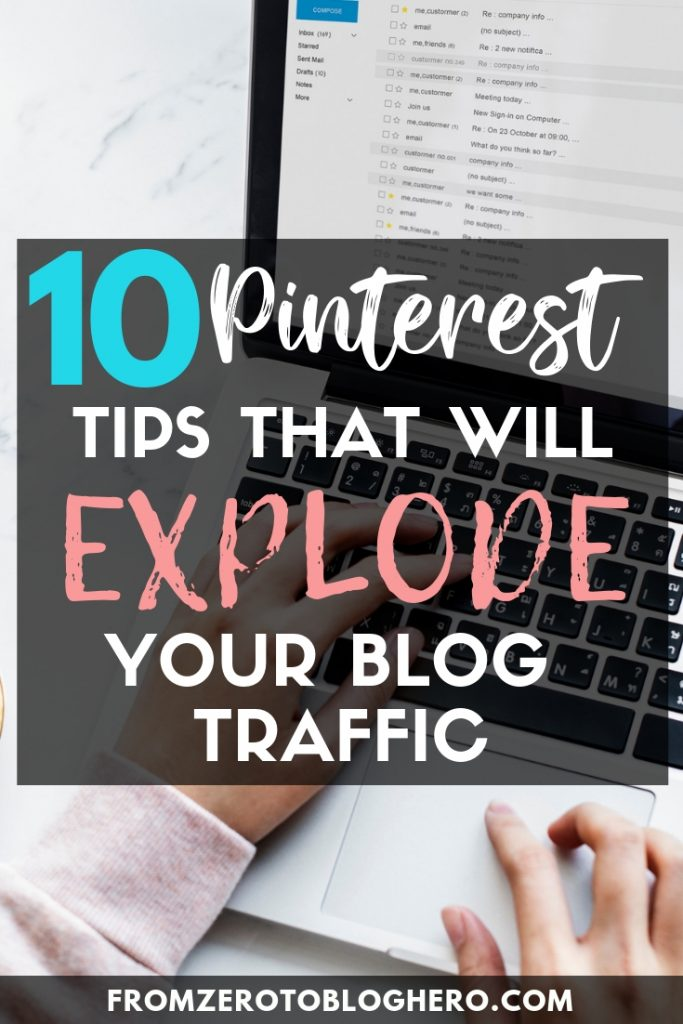 Everybody says Pinterest is one of the best sources of blog traffic, but how does it really work? In this guide I share my top 10 tips that I used to reach 1.4 MILLION monthly views on Pinterest, that will help you understand how to drive traffic to your blog from Pinterest. #pinterest #blogadvice #blogtips #blog #blogging