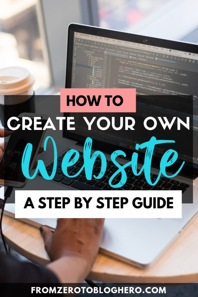 Want to create your own website but don't know how? Don't worry, creating a website has never been easier, you can do so in 8 easy steps without any coding experience. Follow this step by step guide to create your own professional blog! #blog #blogging #website #blogadvice