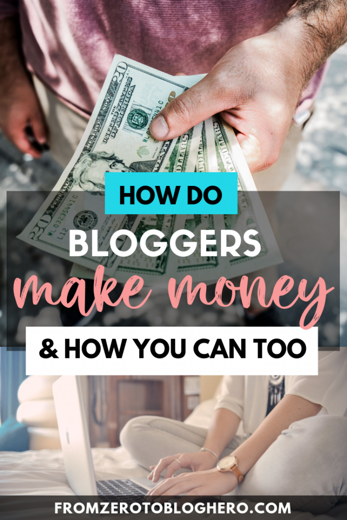 Curious how other bloggers make money online?  In this blog post, we share different ways bloggers can earn an income online. Learn how to start a blog and get paid! #startaprofitableblog #makemoneyblogging